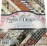 40 Blatt Motivpapier Designpapier Scrapbook Papier Bastelpapier Vintage Deko Einseitig bedrucktes Briefpapier mit 18 Designs 7x7 Zoll für DIY Handwerk