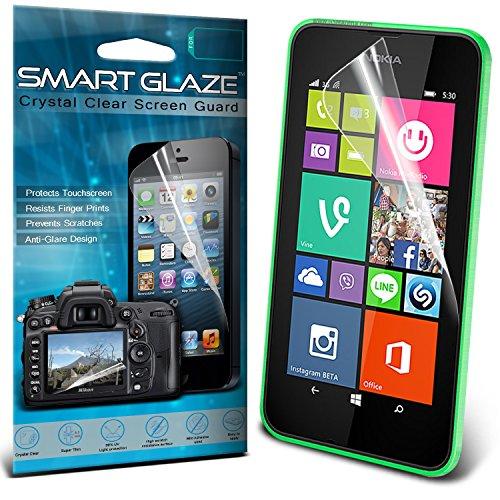 Nokia Lumia 530 Pack mit 3 Schutzfolien für den Bildschirm mit dem Polnischen Tuch von Smart Glasur