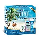 Durex Summer Pack: Preservativos Invisible Extra Sensitivo 12 + Lubricante Original 50ml + Condonera