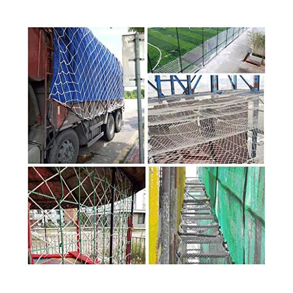 Nylon rope net, children's balcony stair safety net kindergarten decoration net isolation net playground obstacle net, railing net diameter 6mm10cm (Size : 10 * 10M(33 * 33ft))  ◆ Safety net wire diameter 6MM, mesh spacing 10CM.Color: white rope net.Our protective mesh can be customized according to your needs. ◆Protective net material: Made of nylon braided rope, hand-woven, tightened.Exquisite workmanship, solid and stable, can withstand 300kg weight impact. ◆Features of decorative net: soft material, light mesh, multi-layer warp and weft, fine wiring, fine workmanship; clear lines, non-slip durable, anti-wear. 5