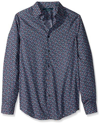 Perry Ellis herren   Button-Down Hemd  -  blau -  (Perry Herren-hemd Ellis)