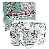 Bella & Bear «Glam» - Estuche para artículos de maquillaje, con 4 compartimentos con cremallera y asa Gran idea de regalo de Navidad para ella.