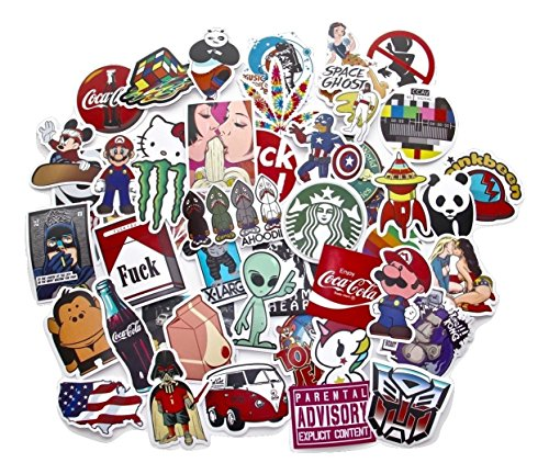 StickerFactory, 50 Pegatinas Calcomanías Surtidos