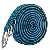 Yililay Elastic Luggage Tie 4M Bicycle Cargo Tie Down Straps with Hook Heavy Duty Luggage Rack Bungee Cord