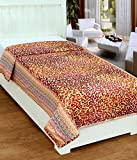 #9: Super India Reversible Cotton Dohar/Duvet/Quilt/Rajai Cover with Zipper Closure - Single Bed