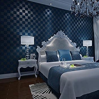 Jslcr Bedroom Background Modern Minimalist Plaid Non Woven Wallpaper