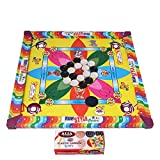 Samaira Sunshine Carrom Board with Ludo Snake Ladder Game for Kids (Multicolour, Small/14-inch)
