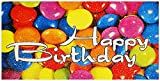 HupHup Exclusive-Line Glückwunschkarte Bunte Smarties mit Glitterlack bunt