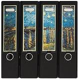 Design Ordner-Rückenschilder zum Einstecken - Motiv Van Gogh - für breite Din A4-Ordner, original von File Art und a-m-w-shop