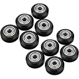 EDASH 10pcs POM Material Big Pulley Wheel with Bearings for V-Slot 3D Printer Part