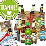 Danke ❤️ Bier Geschenkset mit Bieren der Welt ❤️