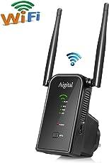 Aigital WLAN Repeater, Wifi Range Extender Verstärker(2,4 GHz 300 Mbps IEEE802.11n/g/b mit WPS Wireless Access Point/Wifi Long Range Extender Mini Router AP Network Signal verstaerker