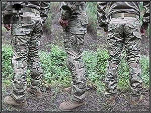 Hommes Armée Militaire Airsoft Paintball Jeu de Guerre Tournage Gen2 G2 Tactique EDR Combat Uniforme Chemise & Pantalons Costume avec de Protection Coudières et Genouillères Multicam MC