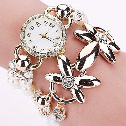 bysor (TM) Fashion braccialetto di perle di lusso al quarzo orologio casual donna donne polso Relogio feminino relojes mujer Montres 1892