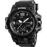skmei Sport Watch For Men Analog-Digital Rubber - 1155- Titanium Black