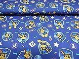 Jersey Stoff / Kinder / Disney / Paw Patrol / blau -