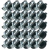 44-49mm Edelstahl Schraubrohrschelle M8 zwei-Schrauben-Gelenkschelle