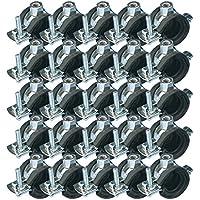 "(0,64 € / Stück) Rohrschelle / Rohrhalter 15 - 18 mm 3/8"" M8, 25 Stück"