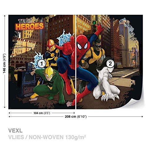 (FORWALL Marvel Spider-Man Vlies Fototapete Tapete Vliestapete Dekoshop Spiderman AD267VEXL 208cm x 146cm Photo Wallpaper Mural)