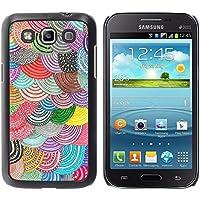 WonderWall Carta Da Parati Immagine Custodia Rigida Protezione Cover Case Per Samsung Galaxy Win I8550 I8552 Grand Quattro - Beret colorato arte DIY