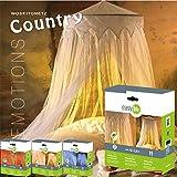 Mosquitera con dosel - dosel de cama Country - mosquitero decorativo blanco - 2,5 x 12m
