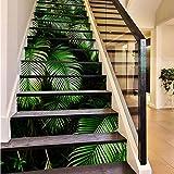 RAIN QUEEN Aufkleber Treppe Folie Sticker Selbstklebend Küche renovieren Bad Wand Wandtattoo Dekoration (Blätter)