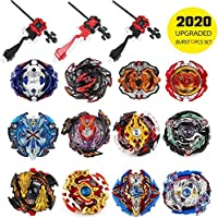 infinitoo Set of 12 Battling Top Bey Burst | Fighter Gyroscope 4D Fusion Model | Burst Evolution Combination Series 3 throwers Set with Launcher | Best Gift for Children Kids Toys