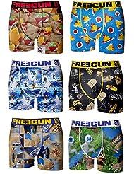 6 Boxers Homme Freegun FG21