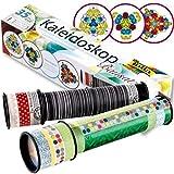 Partygrosshandel Bastelset Kaleidoskop 35 - Teilig mit Anleitung mit 22 Schmucksteinen Ø 5cm Länge 21cm Experimente Lernen
