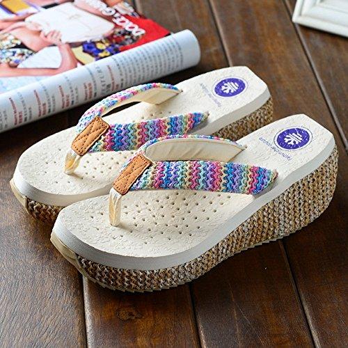 Pattini di modo delle nuove signore di estate Sandali femminili della spiaggia scivolosa per 18-40 anni ( Colore : #1 , dimensioni : EU36/UK4/CN36 ) #2