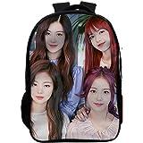 حقيبة ظهر مدرسية عصرية للطلاب من بلاك بينك kpop مع منفذ شحن USB حقيبة كلية أنيقة