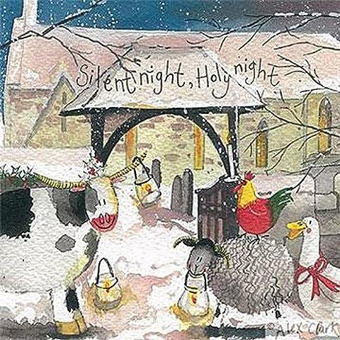 Alex Clark cartes de Noël pour œuvre de charité Motif église Lot de 5 1 Alex Clark Carte avec chaque commande