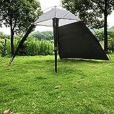 WOSOSYEYO Outdoor Gazebo Tenda Tende da Spiaggia Tenda da Sole Outdoor Tenda da Sole Impermeabile per Picnic Escursionismo Camping Pesca Portatile Installazione Rapida e Semplice