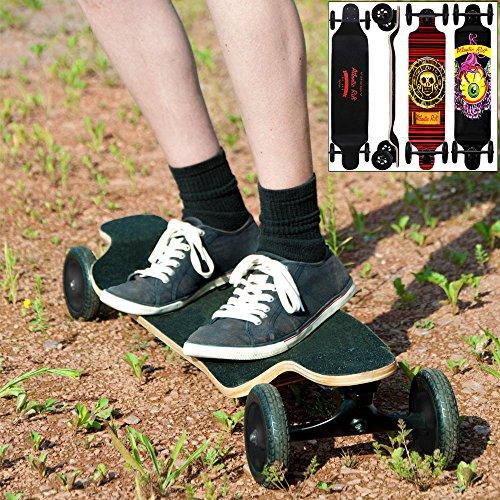 Longboard Offroad Drop-Down ABEC9 Funboard Ahornholz Atlantic Rift Skull Skateboard Montainboard Komplettboard Skater