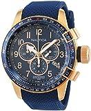 Nautica Herren-Armbanduhr Chronograph Quarz Leder NAI28500G