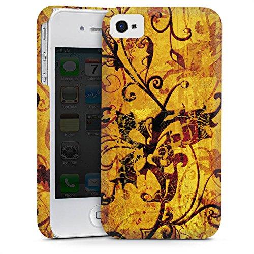 Apple iPhone 5 Housse Étui Silicone Coque Protection Ornement Fleurs Fleurs Cas Premium mat