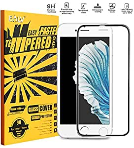 E Lv Apple Iphone 6 Anti-Shatter Colorful Boundary Tempered Glass Screen Protector Scratch Free Ultra Clear Hd Screen Guard (4.7 Inch) - Black