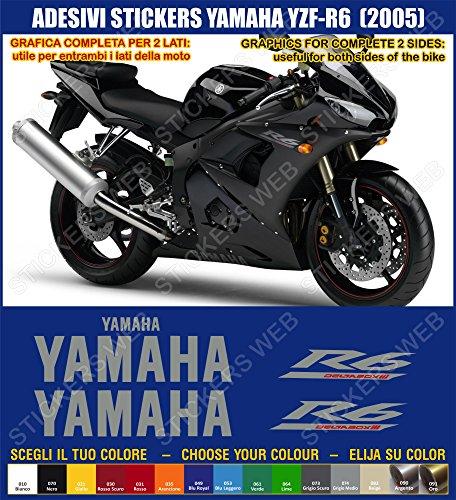 Yamaha YZF R6-Pegatina YZF R6 (2005) sticker kit para modelo 0392 incluye carcasa, color azul