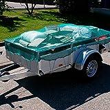 Donet Anhängernetz Containernetz 3,0 x 4,5 m engmaschig Maschenweite 30 mm grün