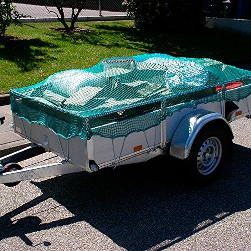 Donet Anhängernetz Containernetz 3,5 x 6,0 m engmaschig Maschenweite 30 mm grün