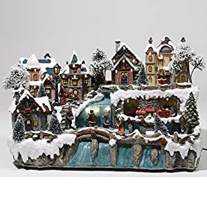 Lumineo village illumine de noel avec cascade for Decoration de noel amazon