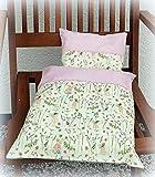Puppenbettwäsche für Puppenwagen, Kissen und Decke für Puppenbett 2-teiliges Set 'Elfengarten'