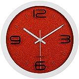 12 pulgadas reloj moderno, reloj de pared silencioso, reloj de pared de habitación casa cocina-sala de estar, estilo 1