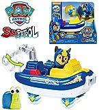 PAW PATROL Playset Veicolo NAVE ZATTERA Trasformabile di CHASE Serie SEA PATROL Versione Speciale SEA FRIEND con Animaletto Extra