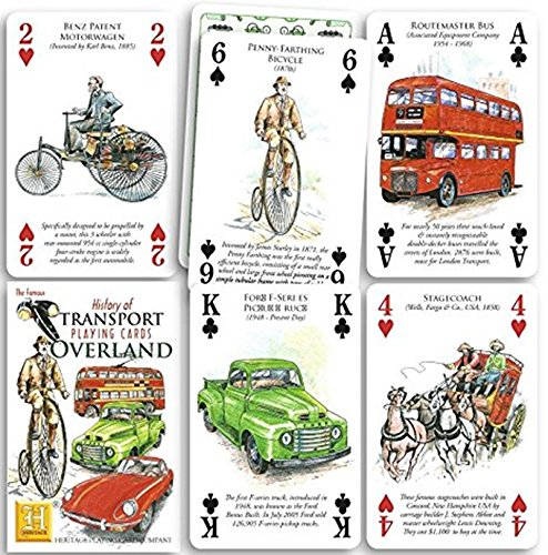 History of Transport - Overland Playing Cards