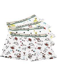 IKRR Pack de 4 Boxer Niño Infantil Animado Algodón