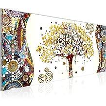 Cuadros de 100 x 40 cm - Gustav Klimt - Árbol de la vida - Cuadro en lienzo no tejido - Impresión de arte - Imagen para la pared - Más colores y tamaños en la tienda - Listo para colgar ¡100 % FABRICADOS EN ALEMANIA! 004612a