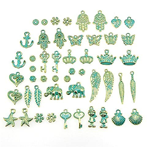 Charms, BESTIM INCUK Wholesale Bulk 50 Pack Mixed Pendant Charms for Jewelry Making Bracelet Necklace DIY Crafts