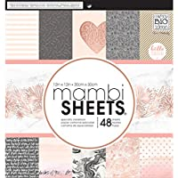 Me & My Big Ideas PADX-292 Mambi Single-Sided Paper Pad, Multi-Colour, 12 x 12-Inch
