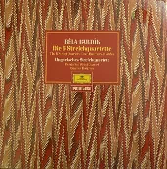 Bela Bartok. Die 6 Streichquartette. 3 Vinyl LP Box.